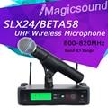 Профессиональный SLX SLX24/BETA58 Высокое Качество Один Портативный Беспроводной Микрофон УВЧ Вокальный Микрофон Системы Группа R5 800-820 МГц