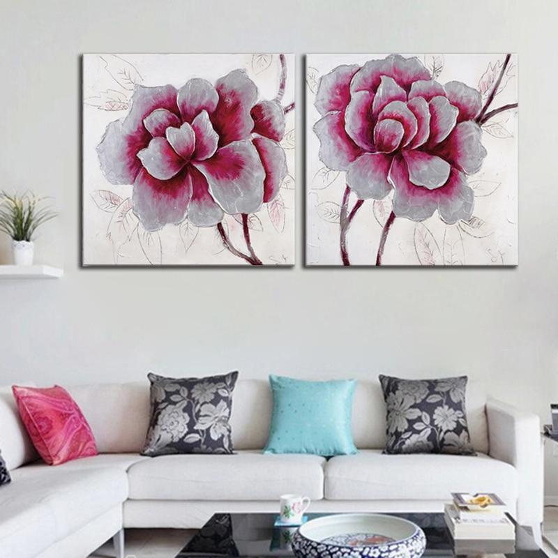 07e294f6cb31f Galeria de noé 2 Painel de Parede Arte Abstrata Pinturas A Óleo Da Flor de  Rosa para a Decoração Do Quarto Parede Pictures Obras de Arte Da Lona Sem  Moldura