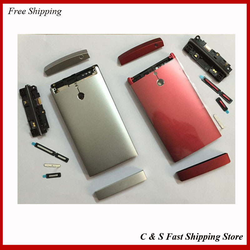 Original For Sony Xperia P LT22I LT22 Housing Cover Case with Buttons Key In Mobile Phone