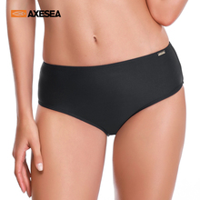 Swimwear Pants Hipster Bikini-Bottom Briefs Sexy High-Waist Beach Women Solid AXESEA