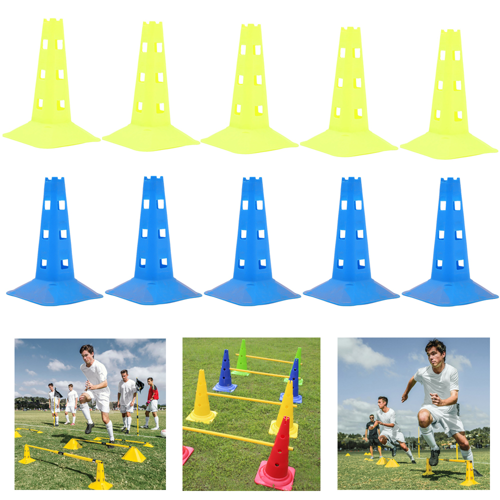 5Pcs/Lot 38cm Cones For Soccer Sport Rugby Training Basketball Cone Marker Disc Mark Multicolor