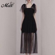 Max Spri 2019 Fashion Style Women Dress Sleeveless Lace Bow Tie Mini Dress Lace Hem Spaghetti Strap Sexy Party Dress