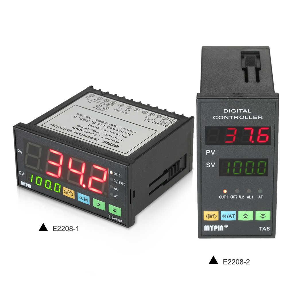 MYPIN термометр интеллектуальный тепловой регулятор контроль температуры ler 4 цифровой термостат контроль pid TC/вход RTD SSR выход
