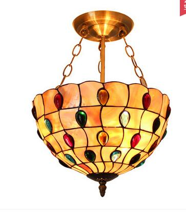 European Mediterranean art pendant lamps entrance bedroom balcony garden aisle colorful warm Tiffany creative Pendant Lights ZCL tiffany restaurant in front of the hotel cafe bar small aisle entrance hall creative pendant light mediterranean df66