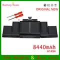 Genuino original batería para apple macbook pro 15 ''retina a1398 a1494 tarde 2013 me293 me294 11.26 v 95wh