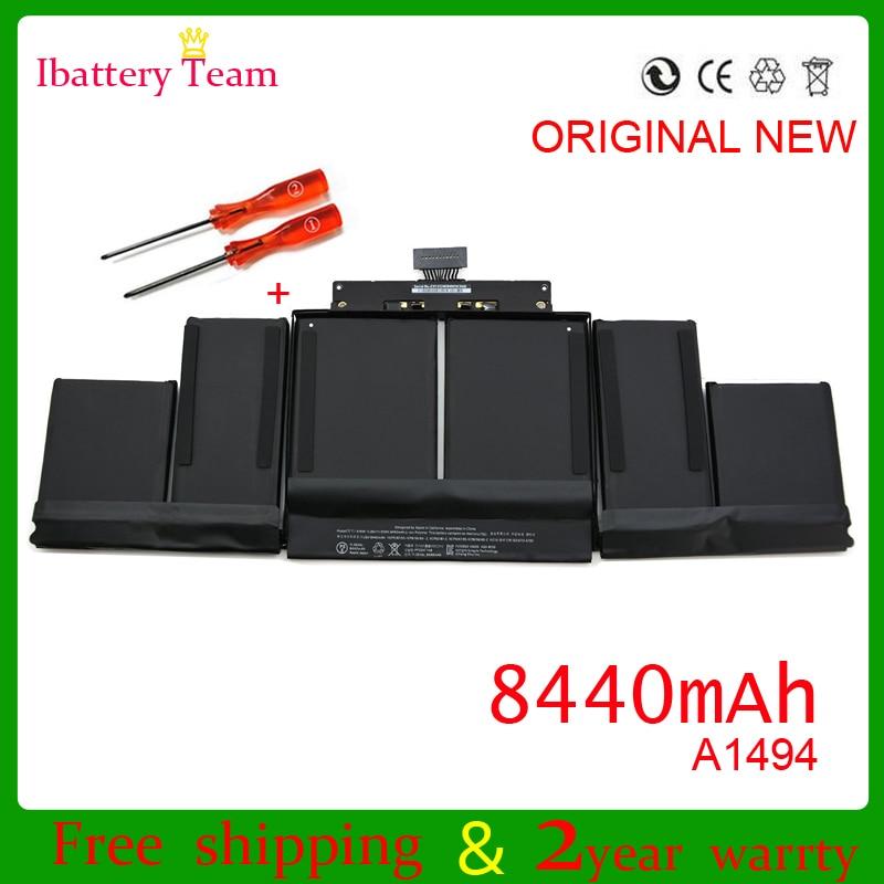 WEIYU Genuine A1494 battery for Apple macbook pro 15 ...