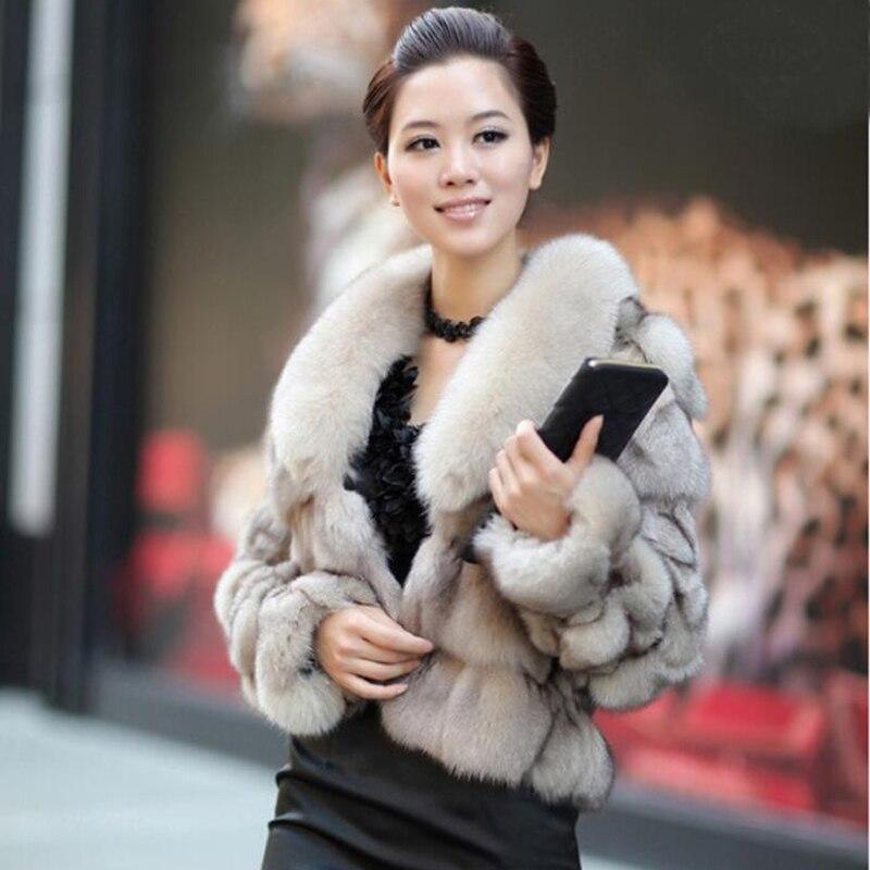 Natuurlijke Bontjassen 100% Echte Echte Fox Fur Winter Warme Jas Voor Vrouwen Real Fox Fur vrouwen Jas Goede kwaliteit Hoed Verkopen-in Echt Bont van Dames Kleding op  Groep 1