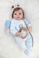 55 см полный силиконовый корпус Reborn для маленьких мальчиков игрушки куклы реалистичные 22 дюймов новорожденных малышей куклы подарок на день