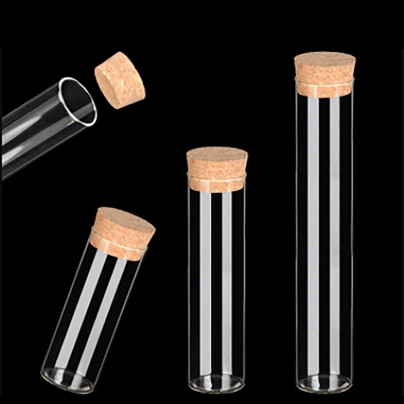 50Pcs/lot 70/110/150ml Small Glass Jars Mason Jar Cork