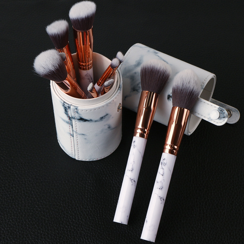 MSQ Pro 10pcs Makeup Brushes Set Powder Foundation Eyeshadow Make Up Brushes Cosmetics Soft Synthetic Hair With PU Leather Case msq 12pcs makeup brushes set powder foundation eyeshadow make up brush professional cosmetics beauty tool with pu leather case