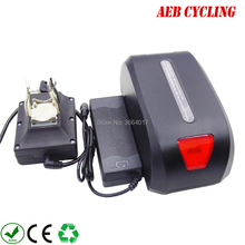 цена на EU US free shippingand taxes China Ebike Li-ion 36V 10Ah Haibao seat tube battery for fat tire bike city bike with charger