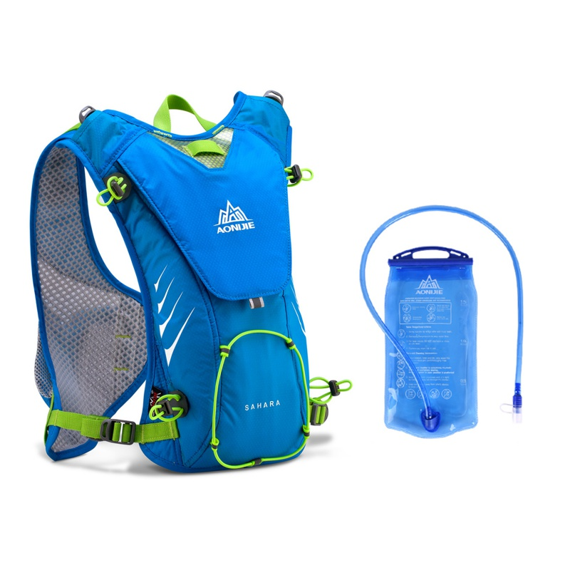 Sport Outdoor Trail Running Marathon Hydration Backpack Lightweight Hiking Bag With+ 1.5L Hydration Water Bag for Men Women цена