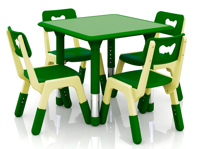 Height Adjustable Eco-friendly Children Square Plastic Table Kindergarten Kids Furniture Easy to Clean CH2610Height Adjustable Eco-friendly Children Square Plastic Table Kindergarten Kids Furniture Easy to Clean CH2610