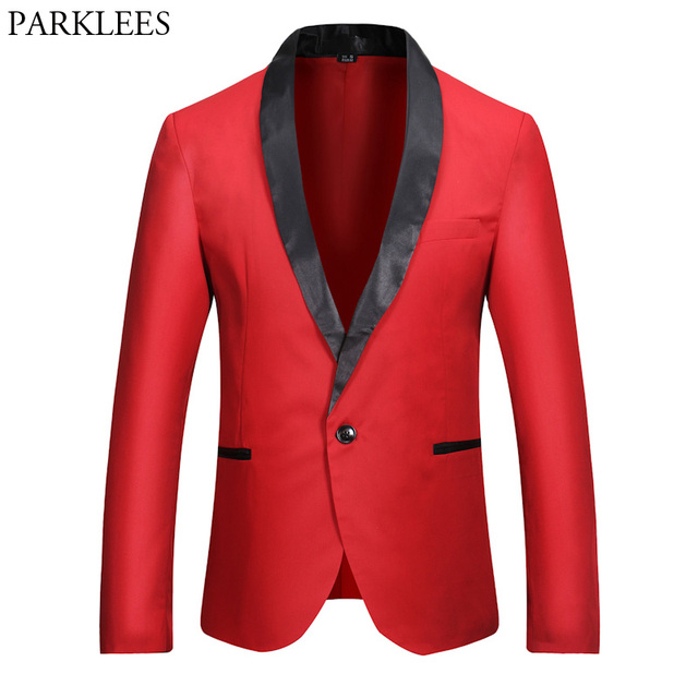 Aliexpress.com : Buy New Red Blazer Men 2017 Fashion Single Button ...