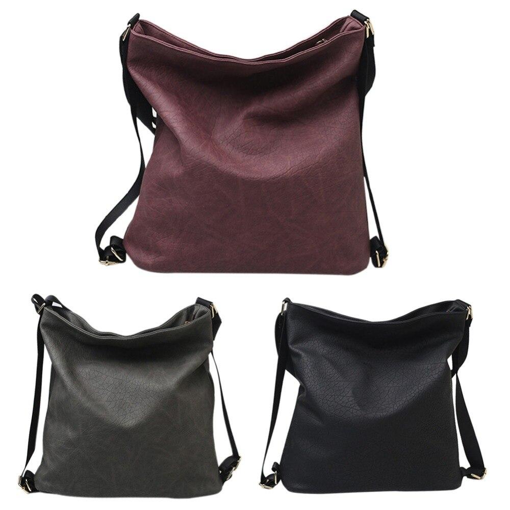 MOJOYCE multifunción mochila hombro de lujo bolsos PU Hobos de cuero diseñador para las señoras bolsas Packbag Bolsa