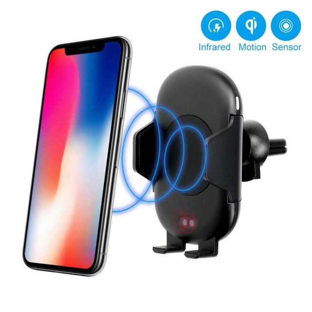Car Mount Qi Wireless Charger for iPhone XS X XR 8 Fast Wireless Charging for Samsung Galaxy S9 S8 for Huawei Car Phone Holder