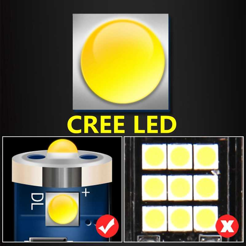 1PCS High Quality T4W BA9S 363 Cree Chips LED Parking Light Canbus No Error Auto Interior Reading Dome Lamps Car Tail Side Bulb