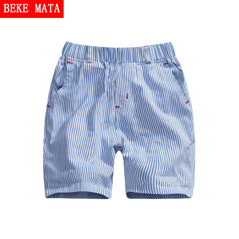 BEKE MATA Striped Summer Shorts For Boys 2017 New Casual Boys Shorts Pants Kids Trousers Cotton