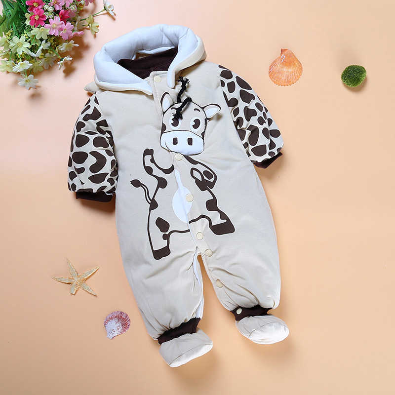 d07a407152296 ... Winter rompers models infants and young children baby Foot Siamese Romper  thick warm coat climbing clothes ...