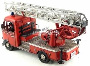 Image 3 - Antieke klassieke brandweerwagen model van Duitse in 80 s retro vintage handgemaakte metalen ambachten voor thuis/pub/cafe decoratie of gift