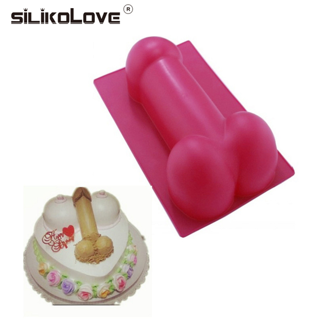 2pcs Silicone Diy Penis Gag Gifts Erotic Ice Cube Fun Funny Adult Mousse Cookie Cake Decorating