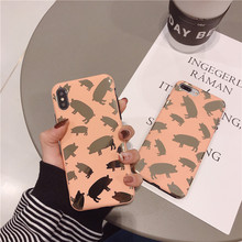Cartoon Gold Pig Phone Case For iphone Cases For iphone XS Max XR X Case For iphone 6 6s 7 8 plus XS Soft Cover Luxury Cute Capa цена и фото