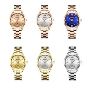 Image 5 - CURREN Frauen Uhren Top Marke Luxus Gold Damen Uhr Edelstahl Band Klassische Armband Weiblichen Uhr Relogio Feminino 9007