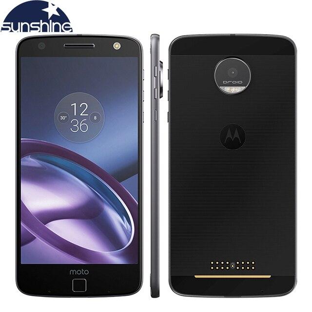 Оригинал Motorola MOTO Z XT1650-05 4 Г LTE Мобильный телефон 5.5 ''13 МП 4 Г RAM 64 Г ROM Quad core отпечатков пальцев NFC Смартфон
