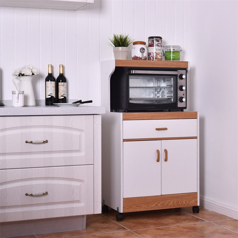 rolling microwave stand cabinet with drawer and two doors modern living room cabinets hw56196