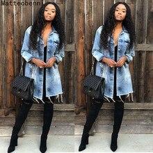 Jaqueta jeans feminina folgada, casaco jaqueta jeans manga comprida plus size 3xl outono