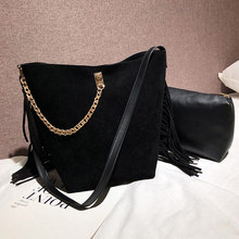 Women Tassel Shoulder Crossbody Bag Fashion Large Capacity with Small Bag -OPK