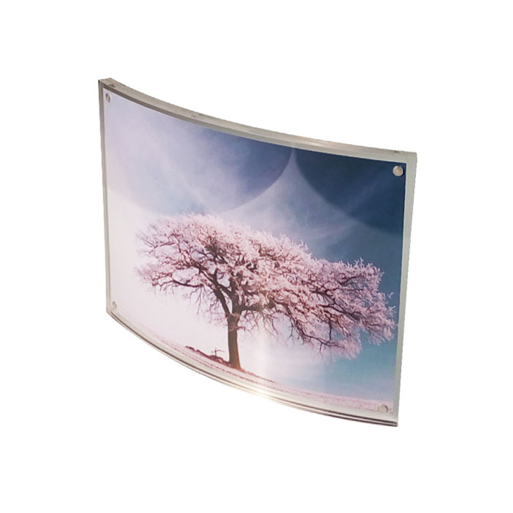 online buy wholesale curved acrylic photo frame from china curved  - (packunits ) countertop curved magnetic acrylic photo frames forcertificatediploma pf