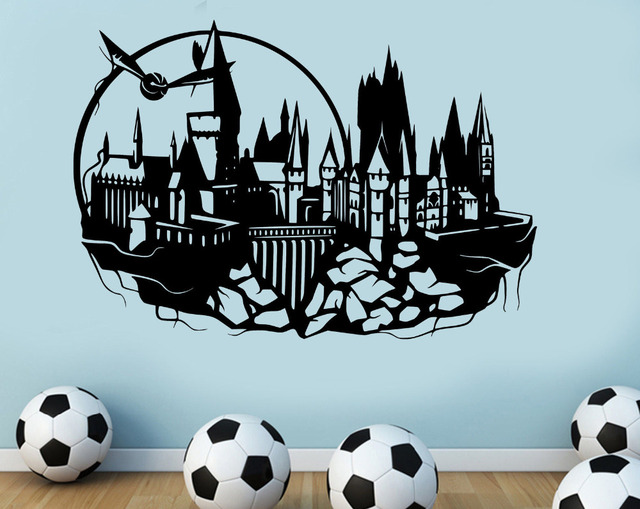 2017 Fshion Hogwarts Wall Decal Harry Potter Castle Vinyl