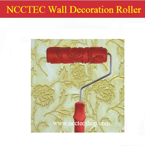 7'' 180mm NCCTEC rubber wall decoration roller with handle | 244 sorts | use it to do rose flower Pattern on the wall  цены