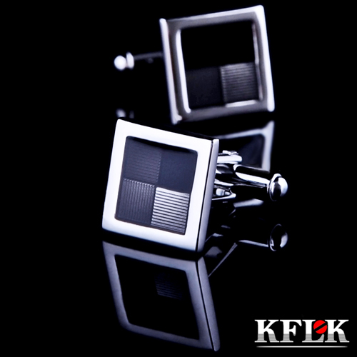 KFLK Luxury 2018 shirt cufflinks married for men's Brand cuff buttons Gray cuff links High Quality gemelos abotoaduras Jewelry