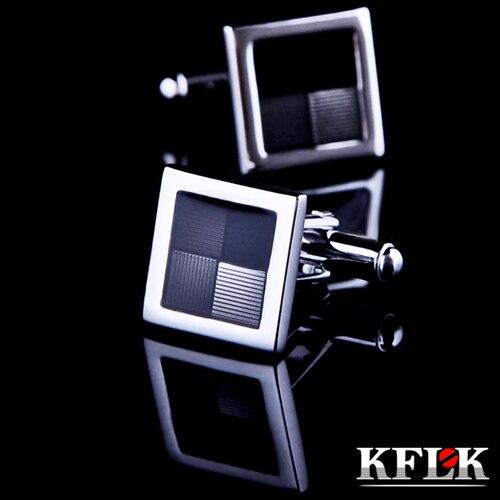 KFLK Luxury 2018 shirt cufflinks married for men's Brand cuff buttons Gray cuff links High Quality gemelos abotoaduras Jewelry