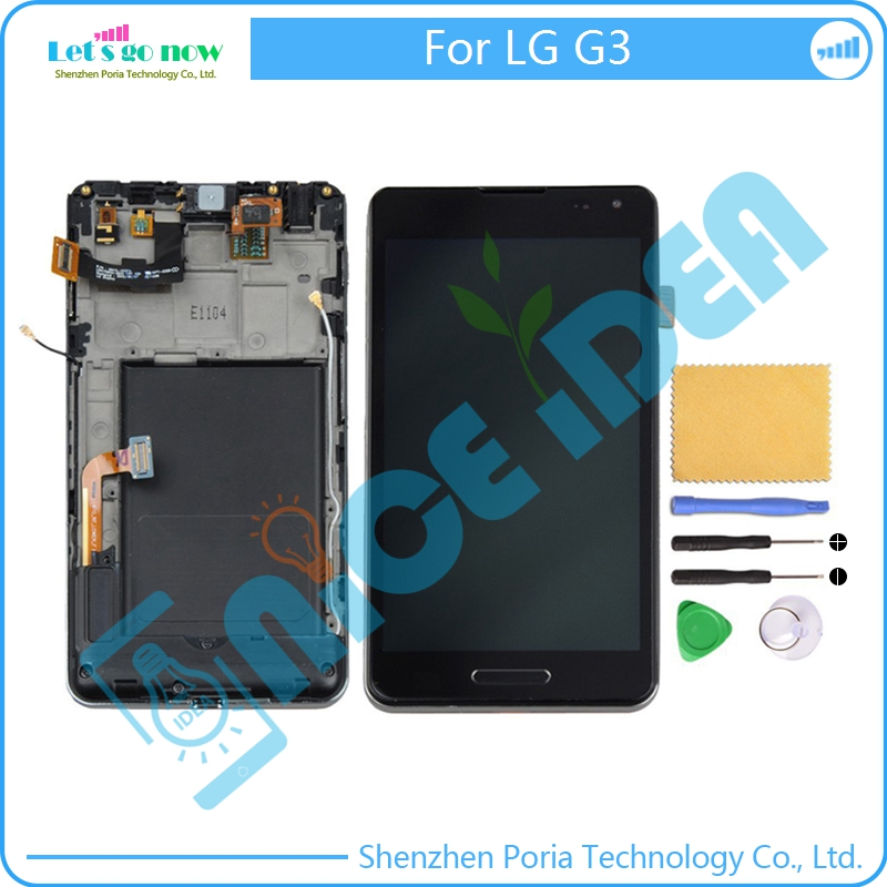 FLPORIA For LG G3 D850 D851 D855 LCD Display+Touch Screen Panel Digitizer Accessories With Frame+Free ToolsFLPORIA For LG G3 D850 D851 D855 LCD Display+Touch Screen Panel Digitizer Accessories With Frame+Free Tools