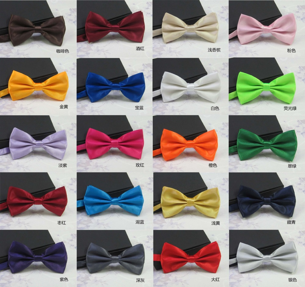 2016 Men s Fashion Tuxedo Classic Mixed Solid Color Butterfly Wedding Party Bowtie Bow Tie Pre