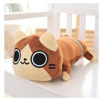 Cute 3ds Anime Monster Hunter Airou Long Cushion Plush Pillow Doll Toy Warm Gift 40cm