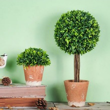 2019 1PC village simulation green plants potted artificial Plants flowers small bonsai ornaments Desktop home decoration