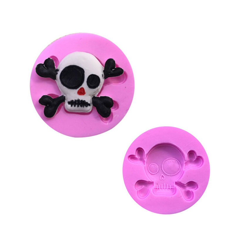 3D Skull Head Silicone Mold Home Party Fondant Cake Chocolate Silicone Mold Cake Tools YC022
