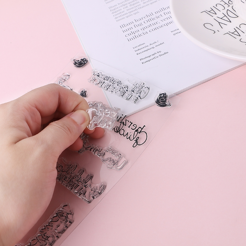 Alphabet DIY Silicone Clear Stamp Cling Seal Scrapbook Embossing Album Decor New Drop Shipping Support