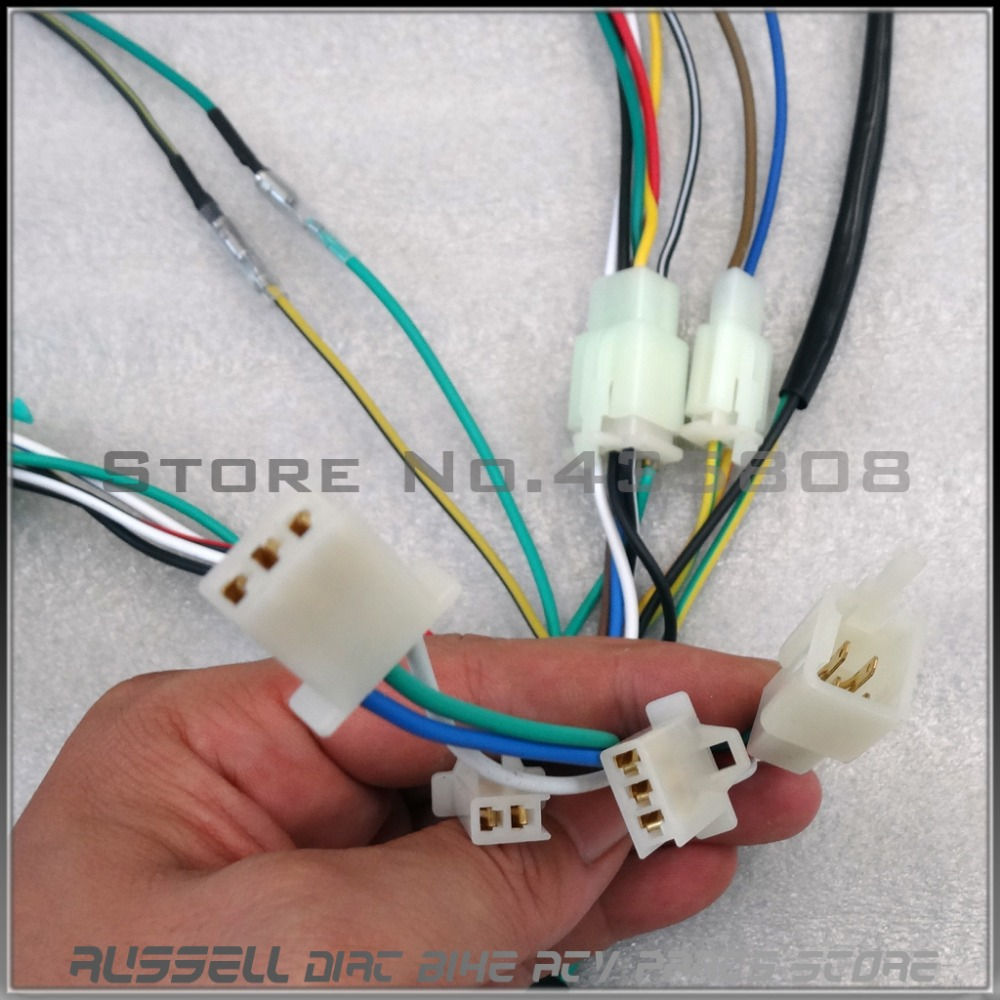 aliexpress com buy full electrics wiring harness cdi ignition aliexpress com buy full electrics wiring harness cdi ignition coil rectifier switch 110cc 125cc atv quad bike buggy gokart from reliable 125cc atv quad