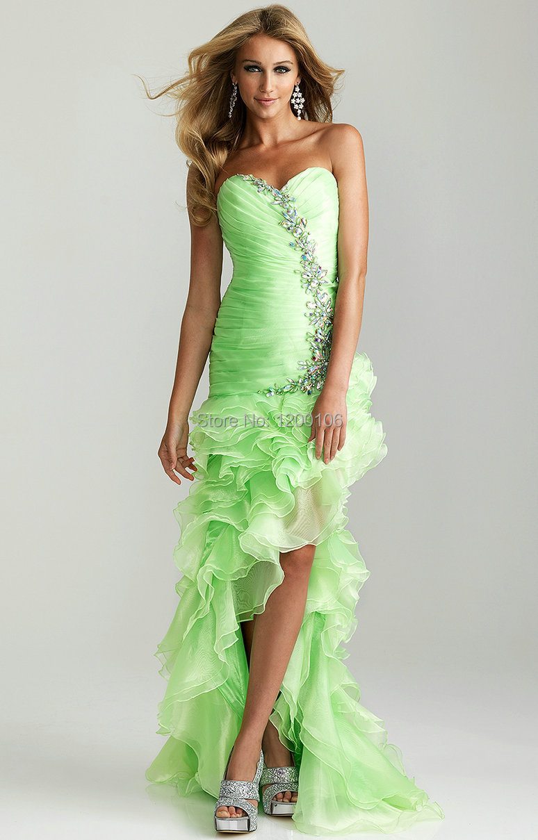 Compare Prices on Green High Low Prom Dress- Online Shopping/Buy ...