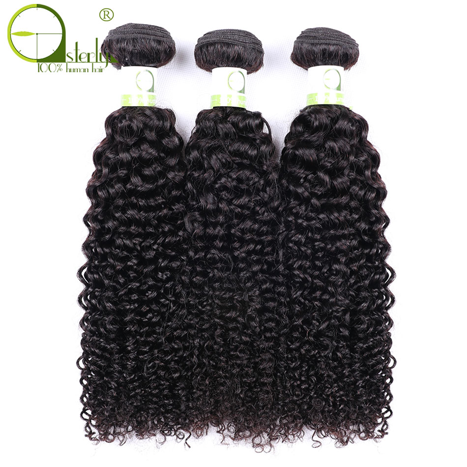 Hair Weaves Sterly Malaysian Curly Hair Bundles 8-28 Non Remy Hair Weaving 1/3 Pcs Kinky Curly Human Hair Weave Bundles Natural Color To Invigorate Health Effectively