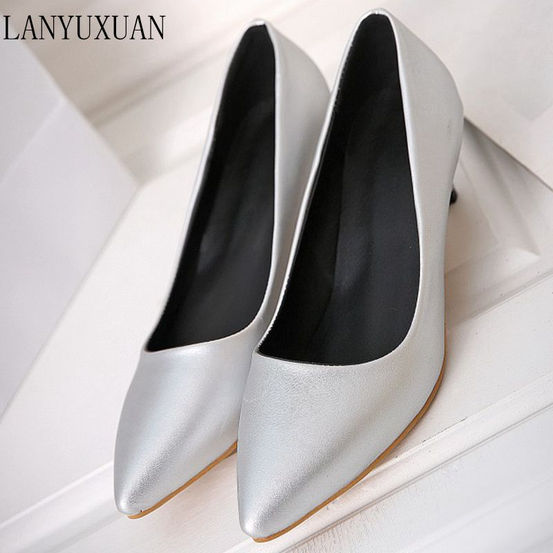 Big Size 34-45 Shoes Woman 2017 New Arrival Wedding Ladies Low Heel Shoes Fashion Sweet Dress Pointed Toe Women Pumps T330 vinlle 2017 sweet rome style women pumps party summer shoes pointed toe square low heel lace up wedding woman shoes size 34 43