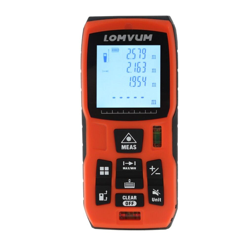 Lomvum лазерный дальномер цифровой измеритель расстояния Батарея-питание Клейкие ленты дальномер Lazer metreler 40 м 60 м 80 м