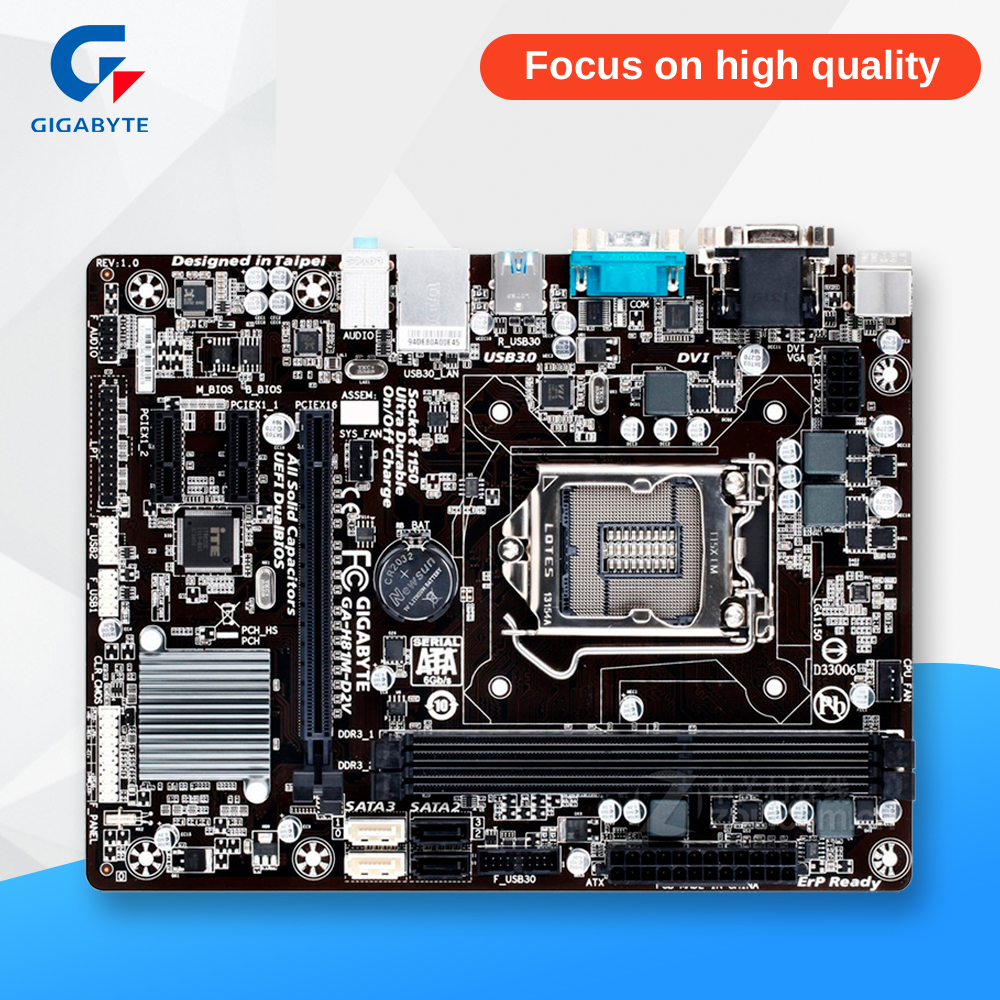 Gigabyte GA-H81M-D2V Original Used Desktop Motherboard H81M-D2V H81 LGA 1150 i3 i5 i7 DDR3 16G SATA3 Micro-ATX пояс для похудения hot shapers neotex размер xl