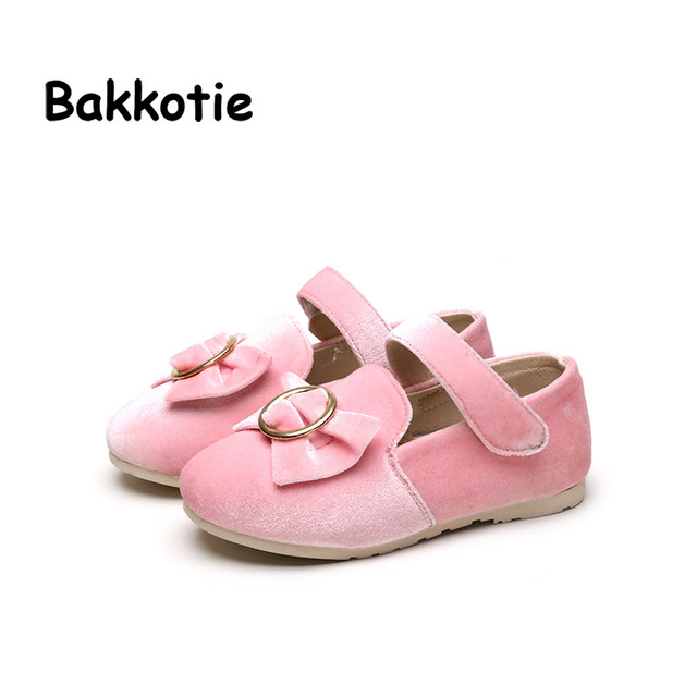 Bakkotie 2017 spring autumn children toddler slip on pu leather flat for baby girl fashion brand bow mary jane black shoe ankle