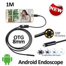 2MP 8mm Android USB Endoscope Camera USB Camera HD720P Waterproof OTG Flexible Snake USB Andorid Borescope Camera 6LED